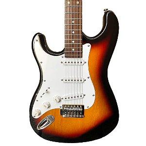 Guitarra Stratocaster Suzuki SST-5 Canhoto Sunburst com Bag