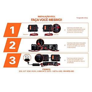 Kit De Som Ambiente Hayonik Ambience 2000 200w Branco