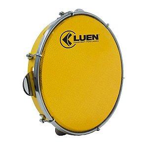 Pandeiro Luen Percussion 10 Aro ABS Pele Holográfica Amarelo