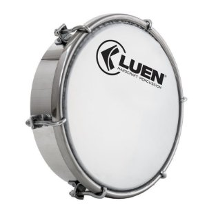 "Tamborim Luen Percussion 6"" Alumínio Pele Holográfica Prata"