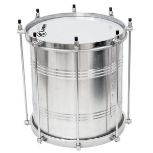 Repinique Luen Percussion 30x10 Alumínio Aro Chapa Cromado