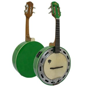 Banjo Eletro-Acústico Marquês BAJ-88 Ativo 4 Cordas Verde