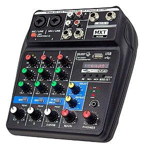 Mesa de Som MXT MX-4BT 4 Canais com Efeitos