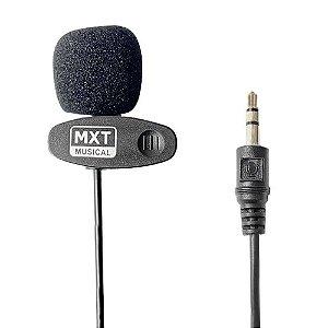 Microfone Estéreo MXT MX-L01 P2 90cm de Lapela