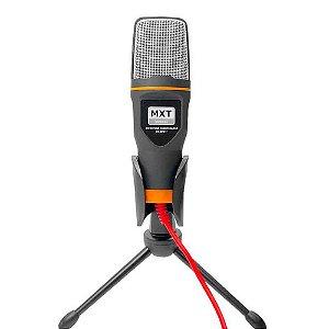 Microfone Condensador MXT MX-MC017 Pod Cast com Tripé