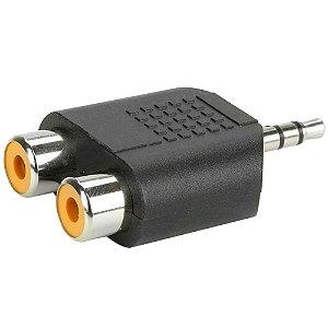 Adaptador Conector MXT 2 RCA para P2 Estéreo