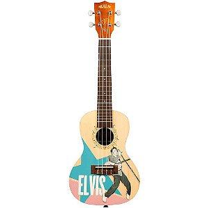 Ukulele Acústico Kala Elvis Rockabilly Learn To Play Concert