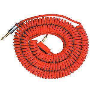 Cabo Espiral Vox VCC-90 P10 90º 9m Red para Instrumentos