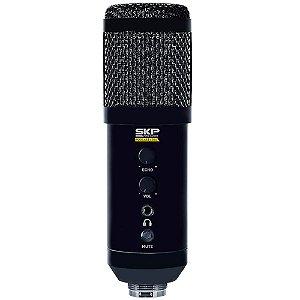 Microfone Condensador SKP Pro Audio Podcast-400U USB