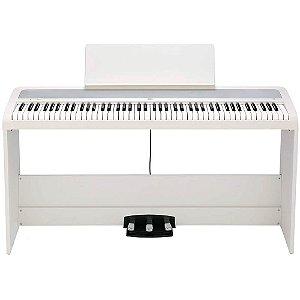 Piano Digital Korg B2SP White 88 Teclas com Suporte