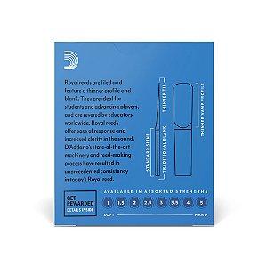 Palheta D'Addario RCB1015 Clarineta 1.5 Woodwinds Rico Royal (caixa com 10)