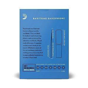 Kit com 10 Palhetas D'addario N° 2 para Saxofone Baritono