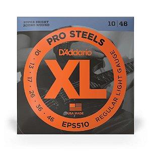 Encordoamento D'Addario EPS510 Guitarra .010 XL Pro Steels