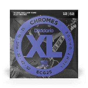 Encordoamento D'Addario ECG25 Guitarra .012 XL Chromes