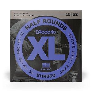 Encordoamento D'Addario EHR350 Guitarra .012 Half Rounds