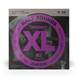 Encordoamento D'Addario EHR320 Guitarra .009 Half Rounds