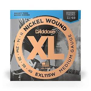 Encordoamento D'Addario EXL115W .011 para Guitarra