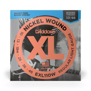 Encordoamento D'Addario EXL110W Guitarra 3ª Encap .010