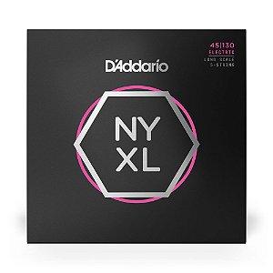 Encordoamento D'Addario NYXL45130 Baixo 5C .045