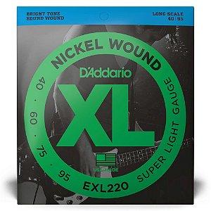 Encordoamento D'Addario EXL220Baixo 4C .040 XL Nickel Wound