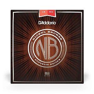 Encordoamento D'Addario NB1356 Violão Aço .013 Nickel Bronze