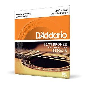 Encord D'Addario EZ900-B Violão Aço .010 Corda Extra PL010