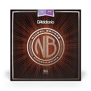 Encordoamento D'Addario NB1152 Violão Aço .011 Nickel Bronze