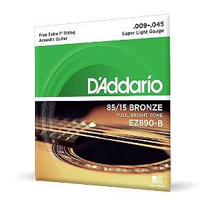 Encord D'Addario EZ890-B Violão Aço .009 Corda Extra PL009