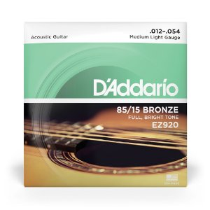 Encordoamento  D'Addario EZ920 Violão Aço .012 Bronze 85/15