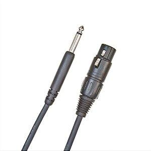 """Cabo D'Addario PW-CGMIC-25 Para Microfone Classic Series XLR Femea 1/4"""" 7.62m"""