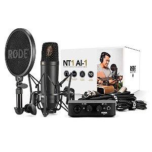 Kit Interface de Áudio e Microfone Rode NT1-AI1