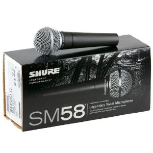 Microfone Dinâmico Shure SM58-LC Cardioide