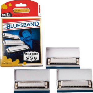 Kit Hohner Blues Band 559/20 (A, C, G) com 3 Harmonicas