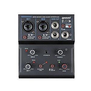Mesa de Som de 2 Canais com Interface de Audio USB - Go Mix 2- Lexsen