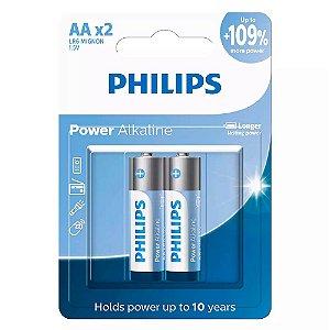 Pilha Alcalina AA Philips LR6P2B/59 C/2