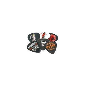 Kit com 6 Palhetas Dunlop L13BP 1.00mm Lucky 13