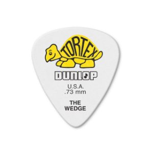 Kit com 12 Palhetas Dunlop 424P 0,73mm Tortex Wedge
