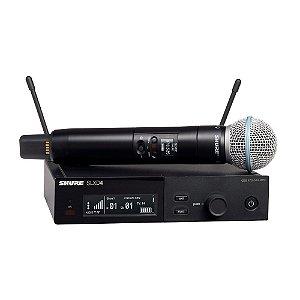 Sistema sem fio com microfone de mao Beta58A - SLXD24/B58-G58 - Shure