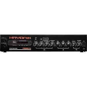 Amplificador de Potência Hayonik PRO2010 200W C/ Gongo Bivolt