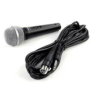 Microfone unidirecional cardioide com fio para karaoke e vocais - SV100-W - Shure