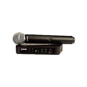 Sistema sem fio com microfone de mao - BLX24BR/SM58-J10 - Shure