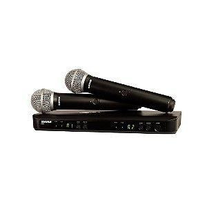 Sistema sem fio com dois microfones de mao - BLX288BR/PG58-M15 - Shure