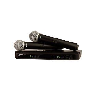 Sistema sem fio com dois microfones de mao - BLX288BR/PG58-J10 - Shure