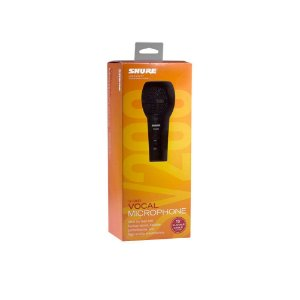 Microfone unidirecional cardioide com fio para karaoke e vocais - SV200-W - Shure