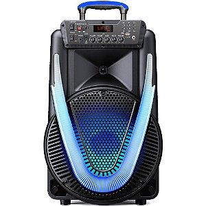 Caixa de Som Multilaser SP396 Sunny II 800W BT/AUX/SD/USB/FM