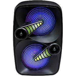Caixa Amplificada Ativa Pro Bass Smash 60W Bluetooth/SD/USB