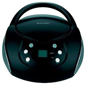 Caixa de Som Multilaser SP337 20W Boombox AUX/SD/USB/FM