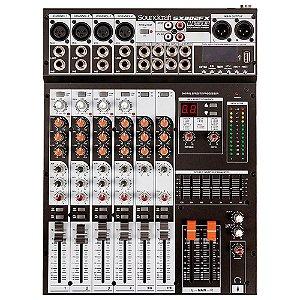 Mesa de Som Analógica Soundcraft SX802FX 8 Canais USB Bivolt