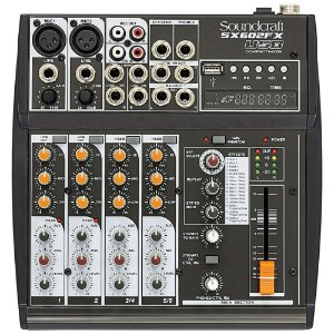 Mesa de Som Analógica Soundcraft SX602FX 6 Canais USB Bivolt