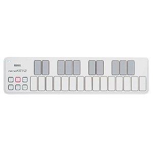 Teclado Controlador Korg Nano Key 2 Branco 25 Teclas USB